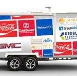 Beyond wheels cross-country speaking sample trailer with logos